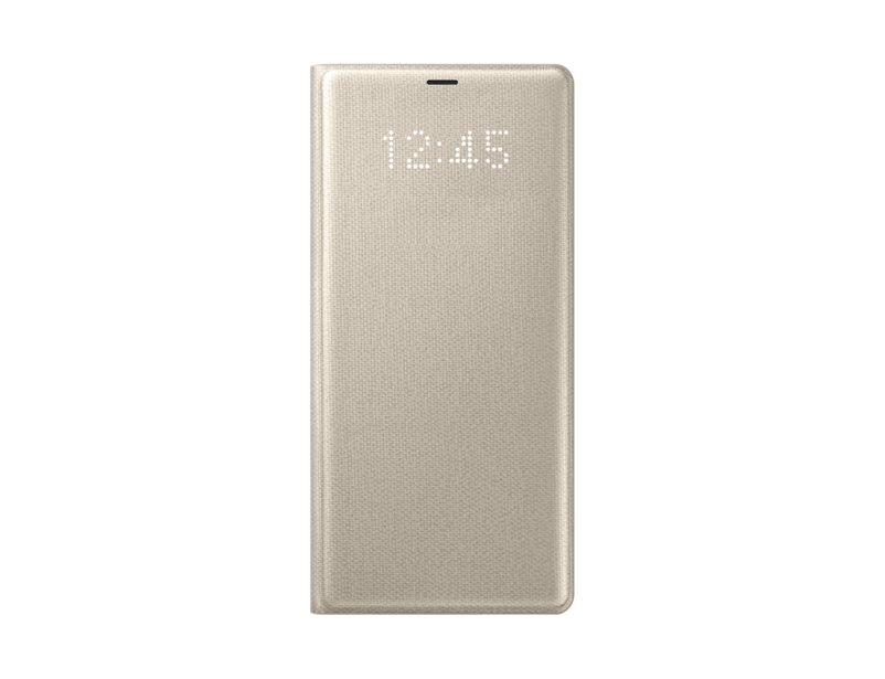 Чехол-книжка для Samsung Galaxy Note 8 LED Samsung EF-NN950PFEGRU View Cover Gold флип, поликарбонат, полиуретан чехол книжка samsung led view cover ef nn950 для galaxy note 8 золотистый