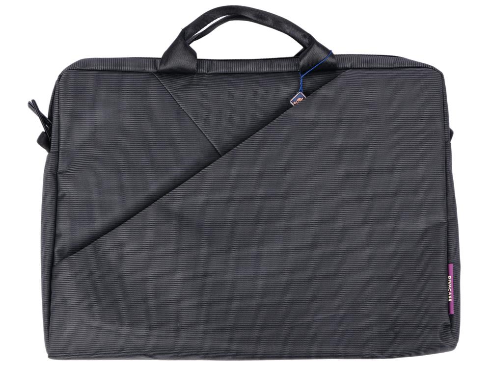 Сумка для ноутбука 15.6 Riva 8730 полиэстер серый аксессуар сумка 15 6 rivacase 8730 grey