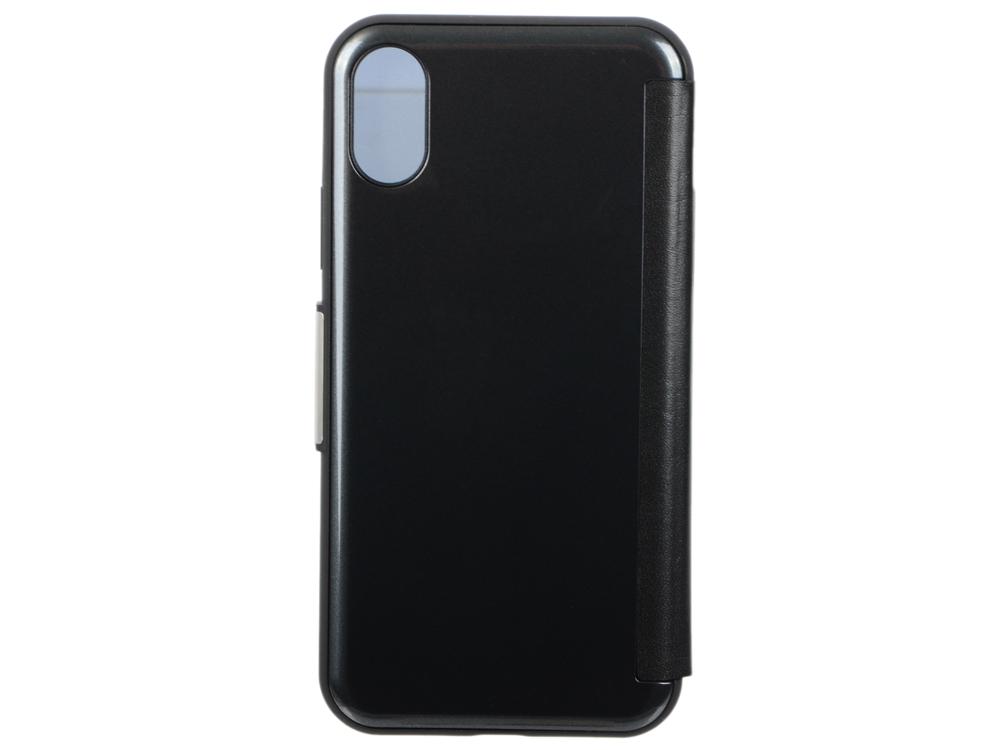 Чехол-кошелек Moshi StealthCover для iPhone X. Материал искусственная кожа/пластик. Цвет серый. давайте run дизайн кожа pu откидной крышки кошелек карты держатель чехол для wiko sunset