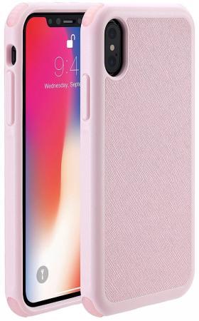 Чехол-накладка Just Mobile Quattro Air для iPhone X. Материал пластик. Цвет: розовый. игра для xbox just dance 2018