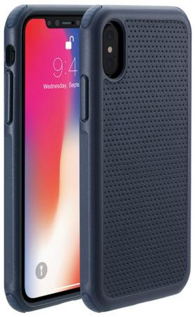 Чехол-накладка Just Mobile Quattro Air для iPhone X. Материал пластик. Цвет: синий. чехол накладка just mobile tenc для iphone x материал пластик цвет прозрачный