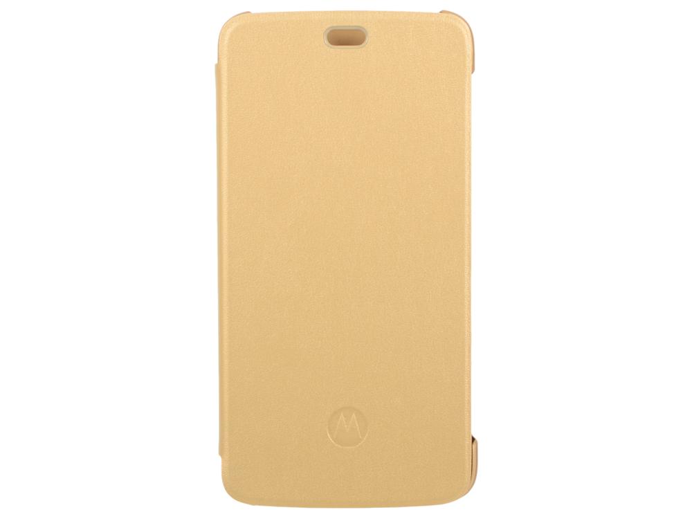 Чехол Motorola для Motorola Moto С Flip Cover золотистый PG38C01665 смартфон motorola moto c xt1754 16gb черный pa6l0083ru