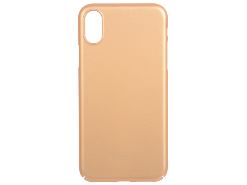Чехол Deppa 83322 Air Case для Apple iPhone X, золотой кейс, поликарбонат