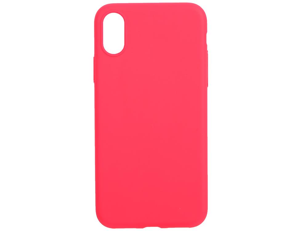 Чехол Deppa 140050 TPU матовый для Apple iPhone X, красный, Anycase кейс, полиуретан anycase tpu чехол для apple iphone x mint