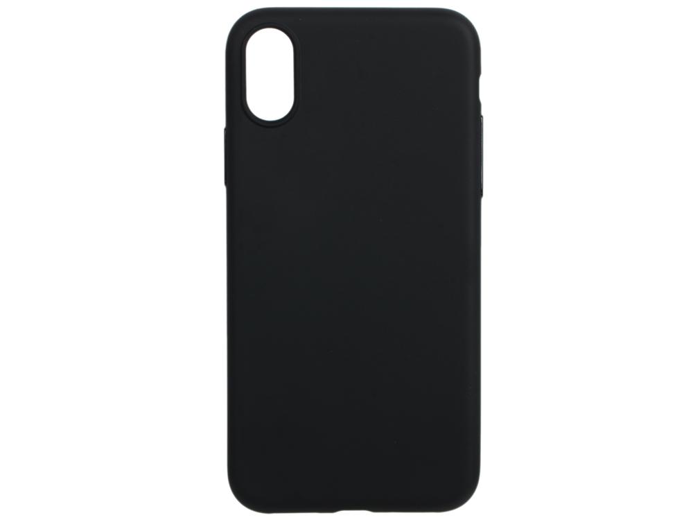 Чехол Deppa 140048 TPU матовый для Apple iPhone X, черный, Anycase кейс, полиуретан чехол для alcatel pop s9 7050y силиконовый tpu черный матовый