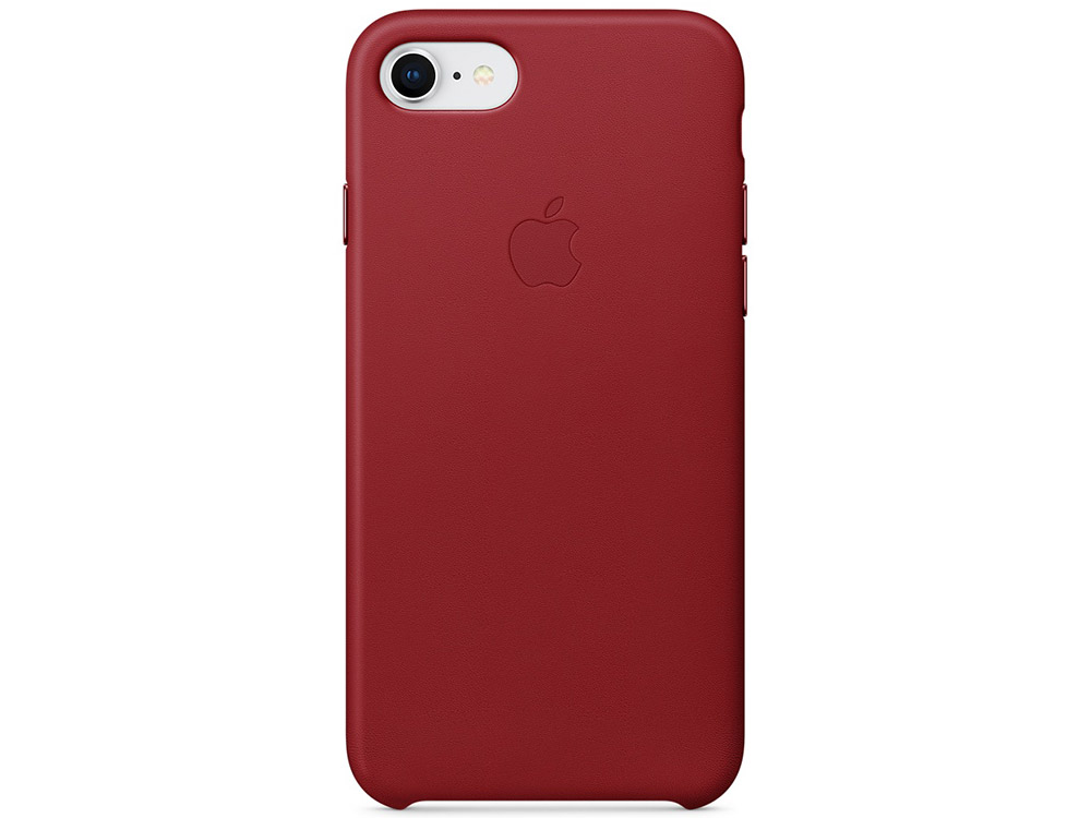 Чехол-накладка для iPhone 7/8 Apple Leather Case MQHA2ZM/A Red клип-кейс, кожа baseus guards case tpu tpe cover for iphone 7 red