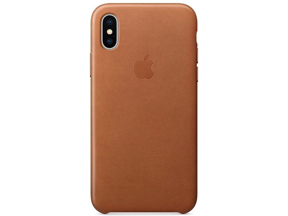 Накладка Apple Leather Case для iPhone X золотисто-коричневый MQTA2ZM/A накладка apple leather case для iphone se чёрный mmhh2zm a