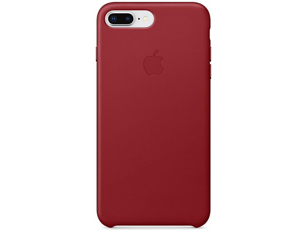 Чехол-накладка для iPhone 7 Plus iPhone 8 Plus Apple Leather Case MQHN2ZM/A Red клип-кейс, кожа клип кейс apple для apple iphone 8 plus 7 plus [mqgw2zm a] черный