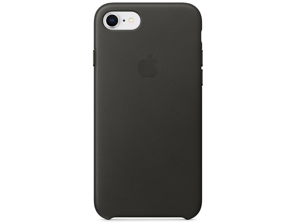 Накладка Apple Leather Case для iPhone 7 iPhone 8 угольно-серый MQHC2ZM/A накладка apple leather case для iphone se чёрный mmhh2zm a