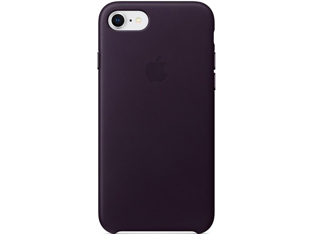 Накладка Apple Leather Case для iPhone 7 iPhone 8 баклажанный MQHD2ZM/A накладка apple leather case для iphone se чёрный mmhh2zm a