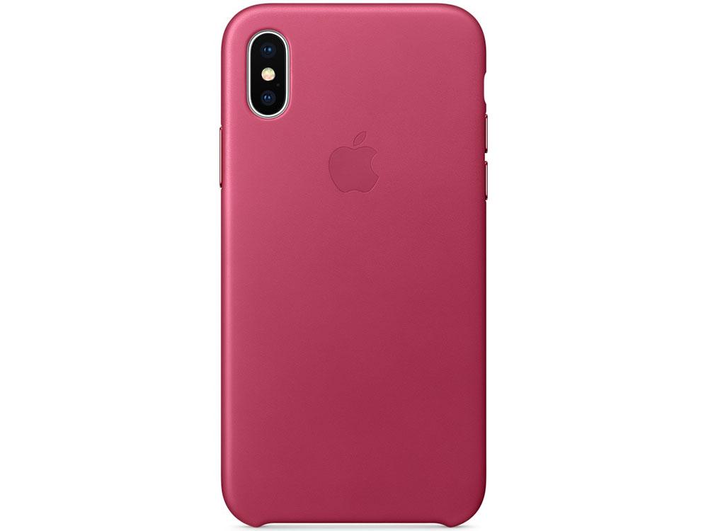 Накладка Apple Leather Case для iPhone X розовая фуксия MQTJ2ZM/A накладка apple leather case для iphone se чёрный mmhh2zm a