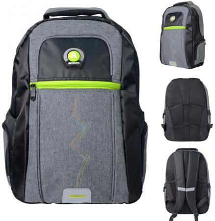 Городской рюкзак  рельефной спинкой Action! AB11124 21  черный серый