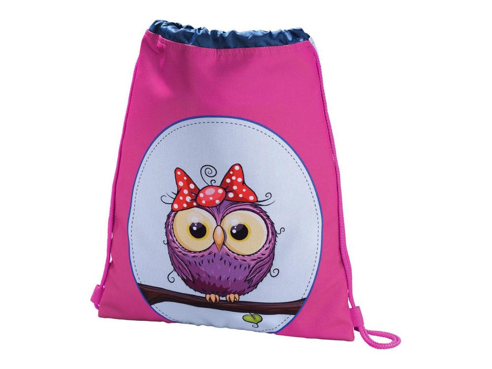Мешок для сменной обуви Hama Sweet owl розовый/голубой 00139117 рюкзак hama sweet owl розовый голубой