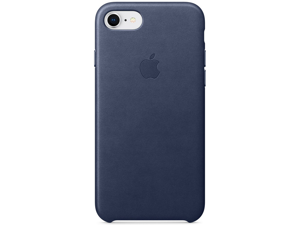 Накладка Apple Leather Case для iPhone 7/8 синий MQH82ZM/A аксессуар чехол apple iphone 8 7 leather case cosmos blue mqhf2zm a