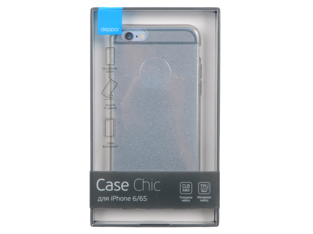 Чехол Deppa Chic Case для Apple iPhone 6/6S, графит, 85295 deppa air case для apple iphone 6 6s white