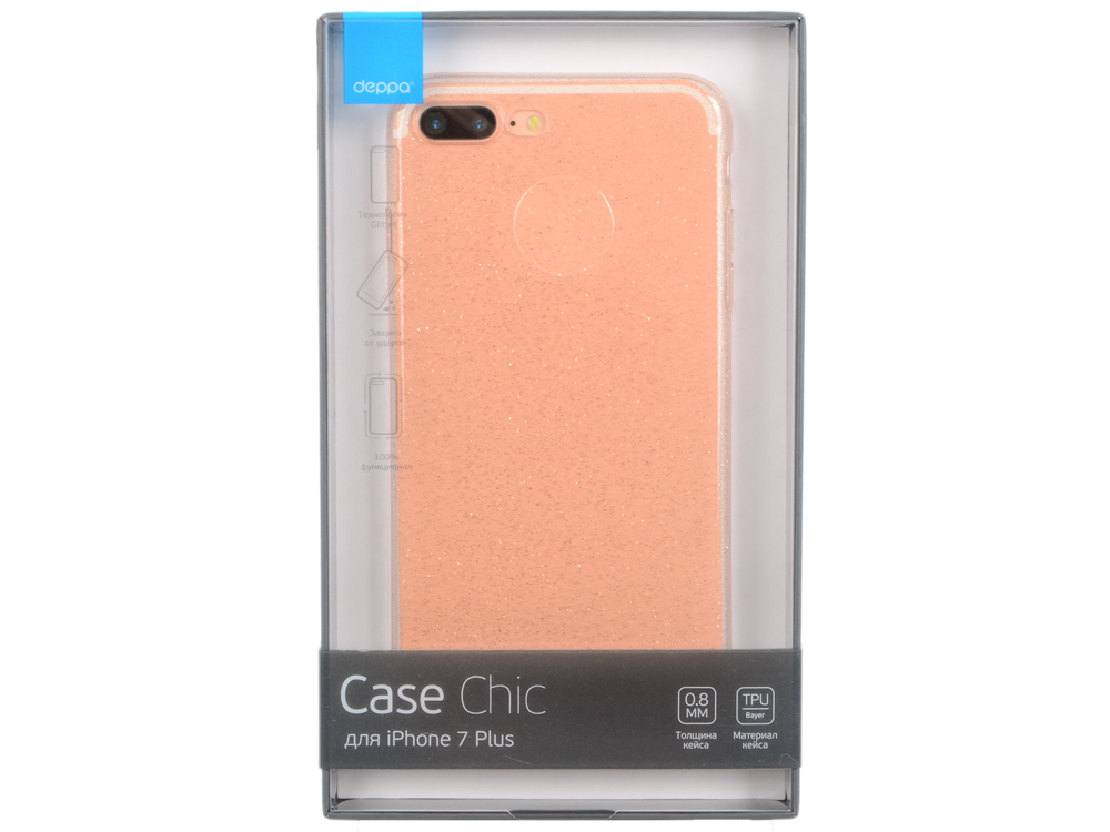 Чехол Deppa Chic Case для Apple iPhone 7 Plus / iPhone 8 Plus, розовое золото, 85302 deppa air case чехол для apple iphone 7 plus 8 plus pink gold