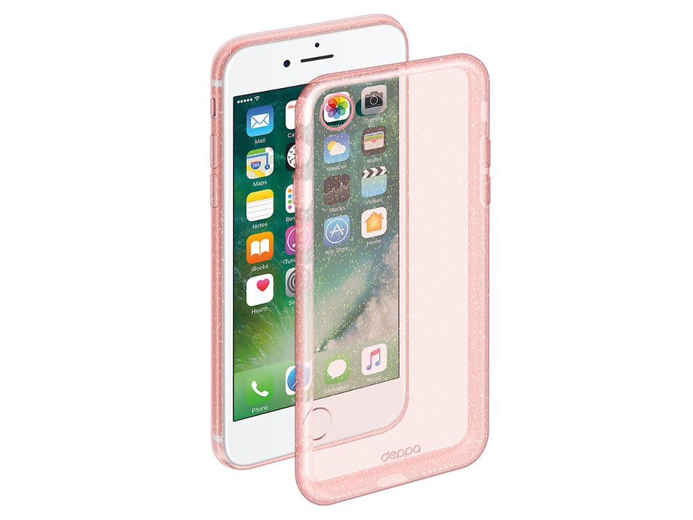Чехол Deppa Chic Case для Apple iPhone 7 / iPhone 8, розовое золото, 85299 deppa nanosim