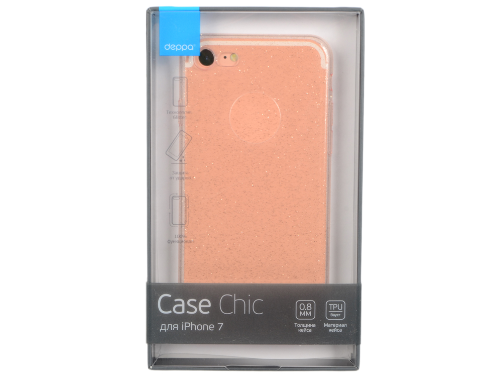 Чехол Deppa Chic Case для Apple iPhone 7 / iPhone 8, розовое золото, 85299 deppa art case чехол для apple iphone 4 4s flowers мак