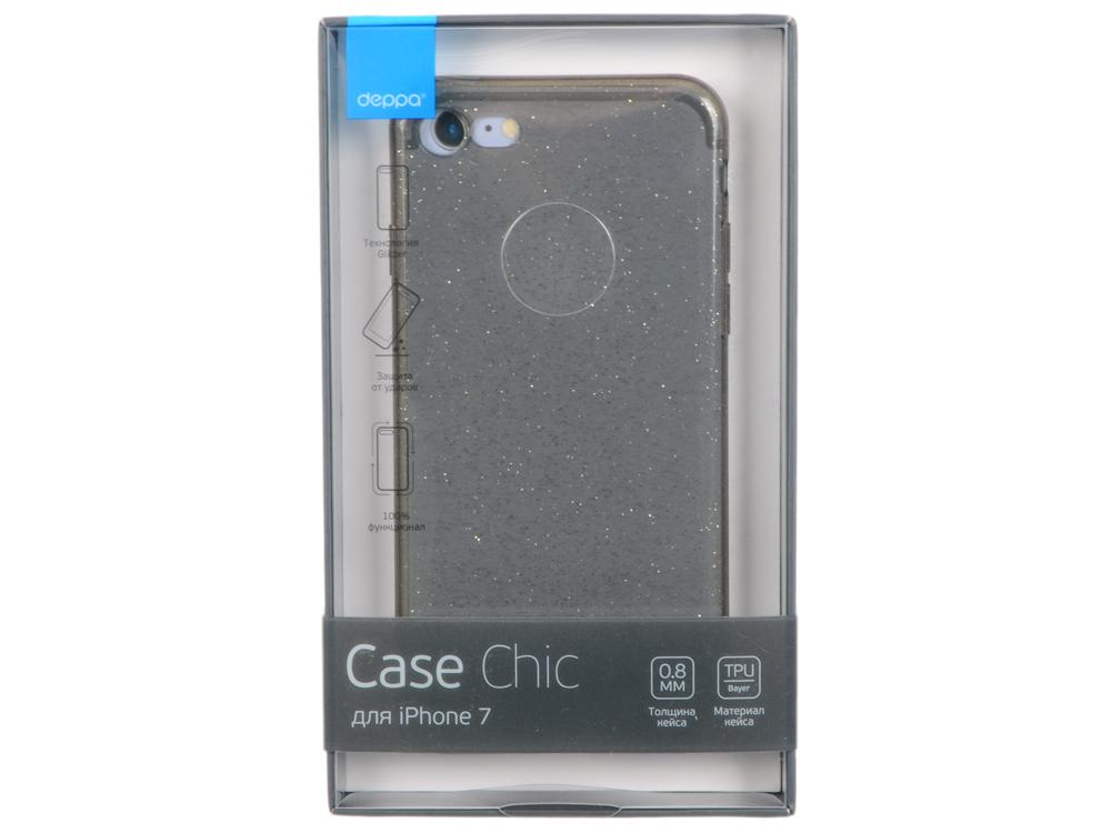 Чехол Deppa Chic Case для Apple iPhone 7 / iPhone 8, черный, 85298
