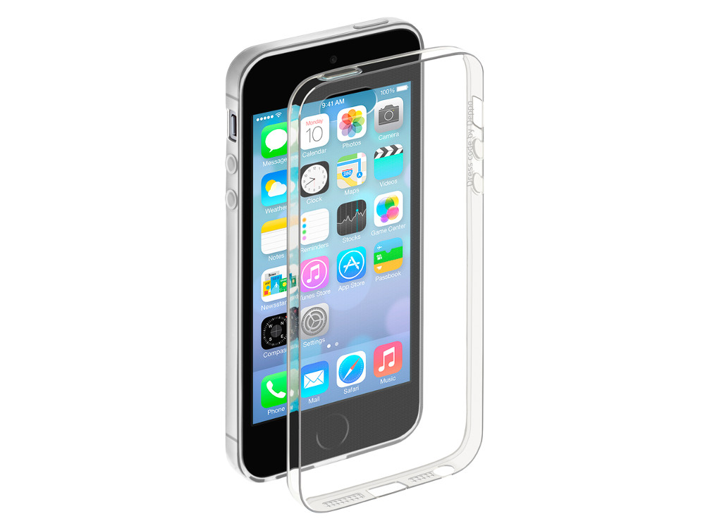 Чехол Deppa Gel Case для Apple iPhone 5/5S/SE, прозрачный, 85200