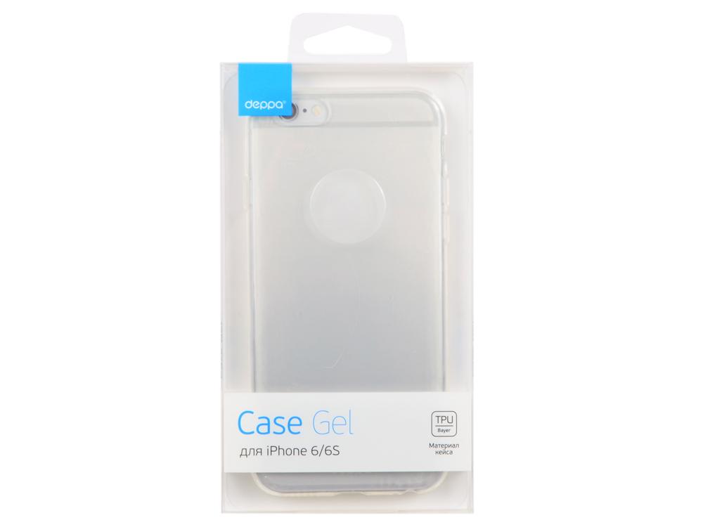 Чехол Deppa Gel Case для Apple iPhone 6/6S, прозрачный, 85202
