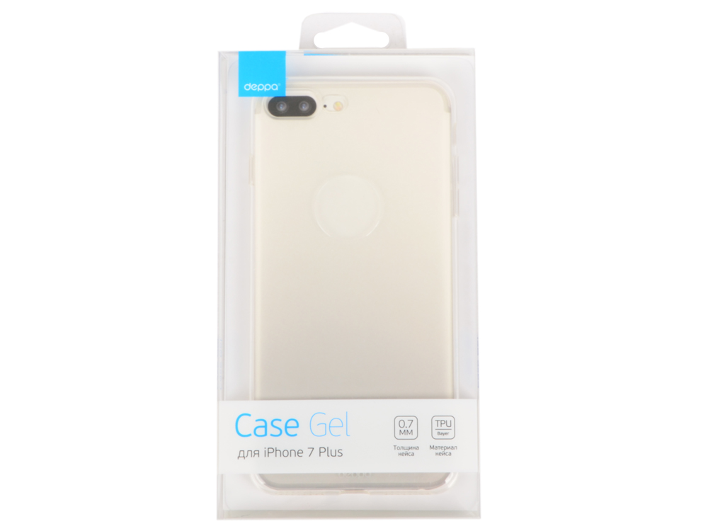Чехол Deppa Gel Case для Apple iPhone 7 Plus / iPhone 8 Plus, прозрачный, 85252 чехол deppa gel plus case для apple iphone 7 iphone 8 золотой 85256