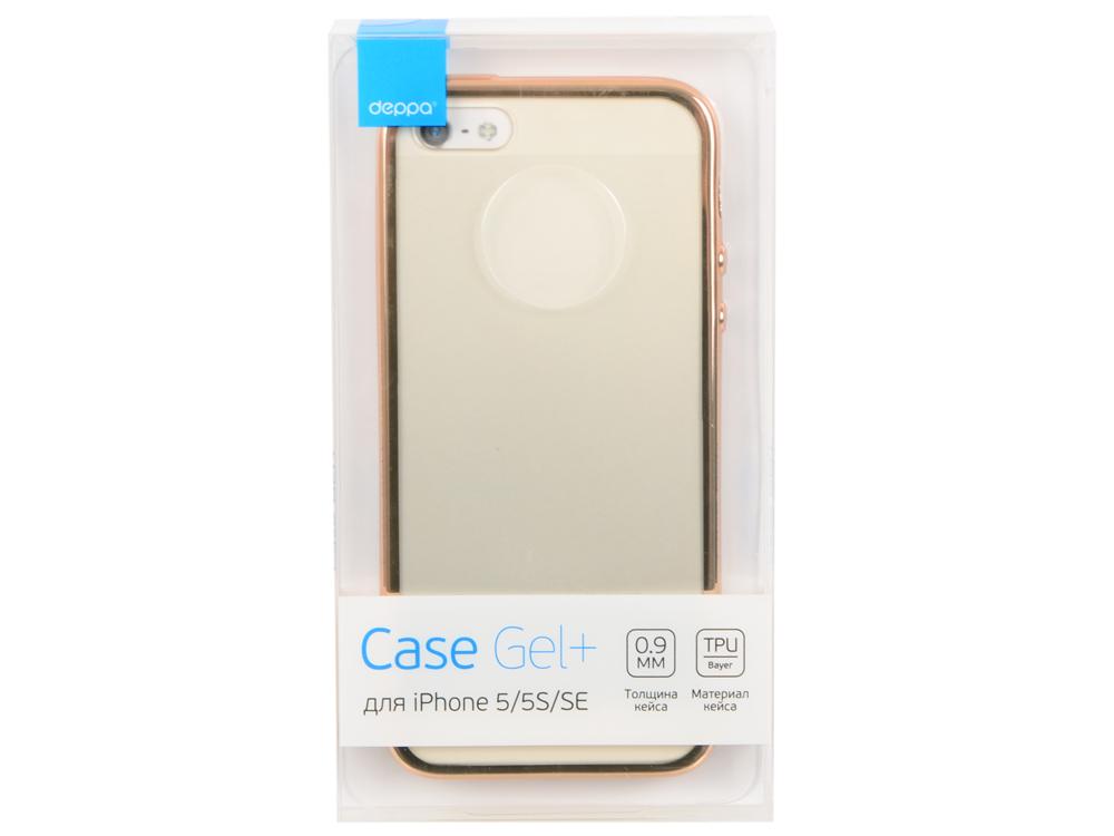 Чехол Deppa Gel Plus Case для Apple iPhone 5/5S/SE, золотой, 85224 deppa gel plus чехол для apple iphone x pink
