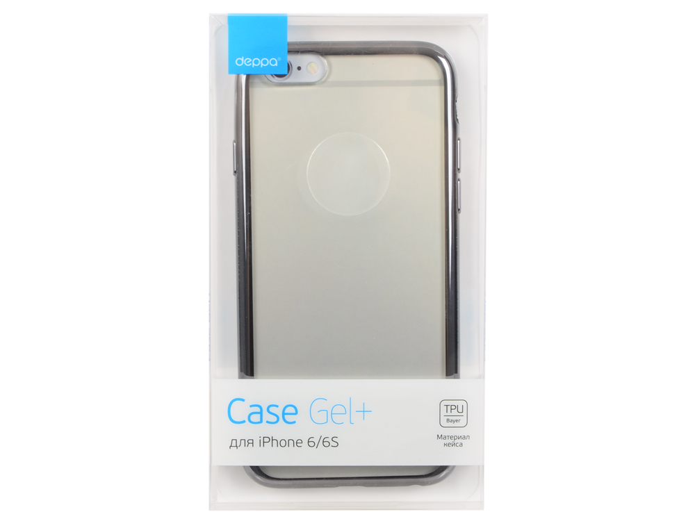 Чехол Deppa Gel Plus Case для Apple iPhone 6/6S, графит, 85211 чехол для iphone 6 plus iphone 6s plus deppa sky case purple 0 4 с пленкой