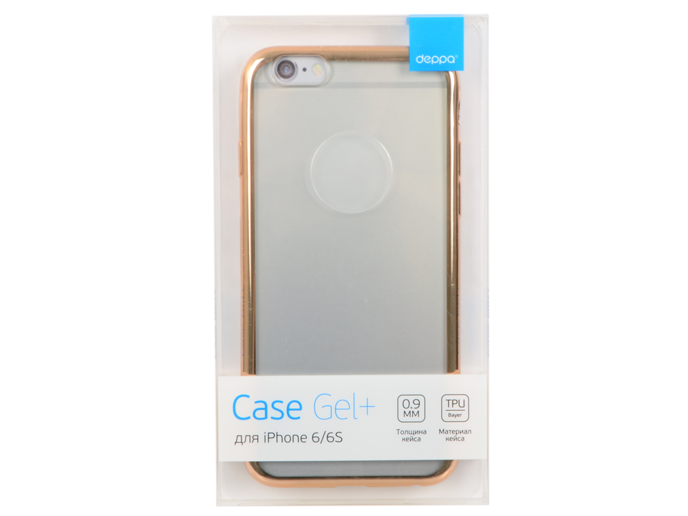 цены Чехол Deppa Gel Plus Case для Apple iPhone 6/6S, золотой, 85212