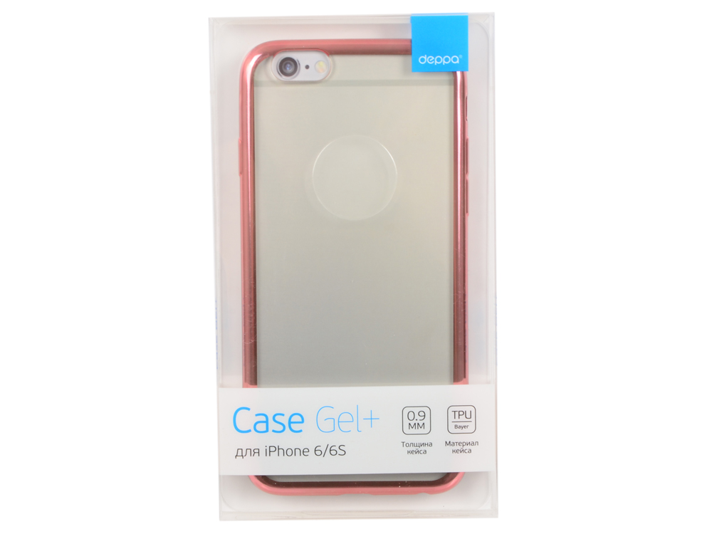 Чехол-накладка для Apple iPhone 6/6S Deppa Gel Plus Case 85213 Pink клип-кейс, полиуретан