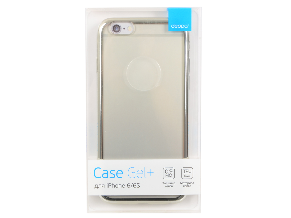 Чехол Deppa Gel Plus Case для Apple iPhone 6/6S, серебряный, 85210 чехол для iphone 6 plus iphone 6s plus deppa sky case purple 0 4 с пленкой