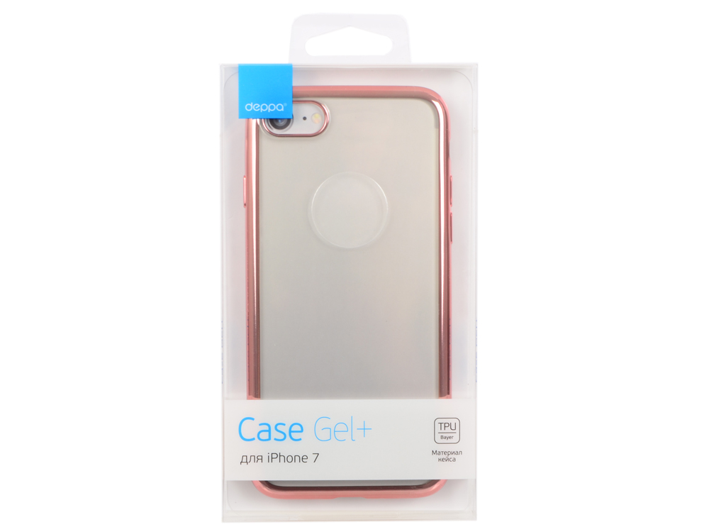 Чехол Deppa Gel Plus Case для Apple iPhone 7 / iPhone 8, розовое золото, 85257 аксессуар чехол для apple iphone 7 plus 8 plus innovation silicone case purple 10627
