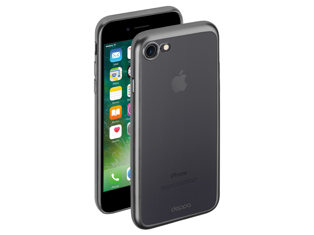 Чехол Deppa Gel Plus Case матовый для Apple iPhone 7 / iPhone 8, графит, 85283 чехол клип кейс deppa gel plus case для apple iphone 7 plus 8 plus графит [85288]