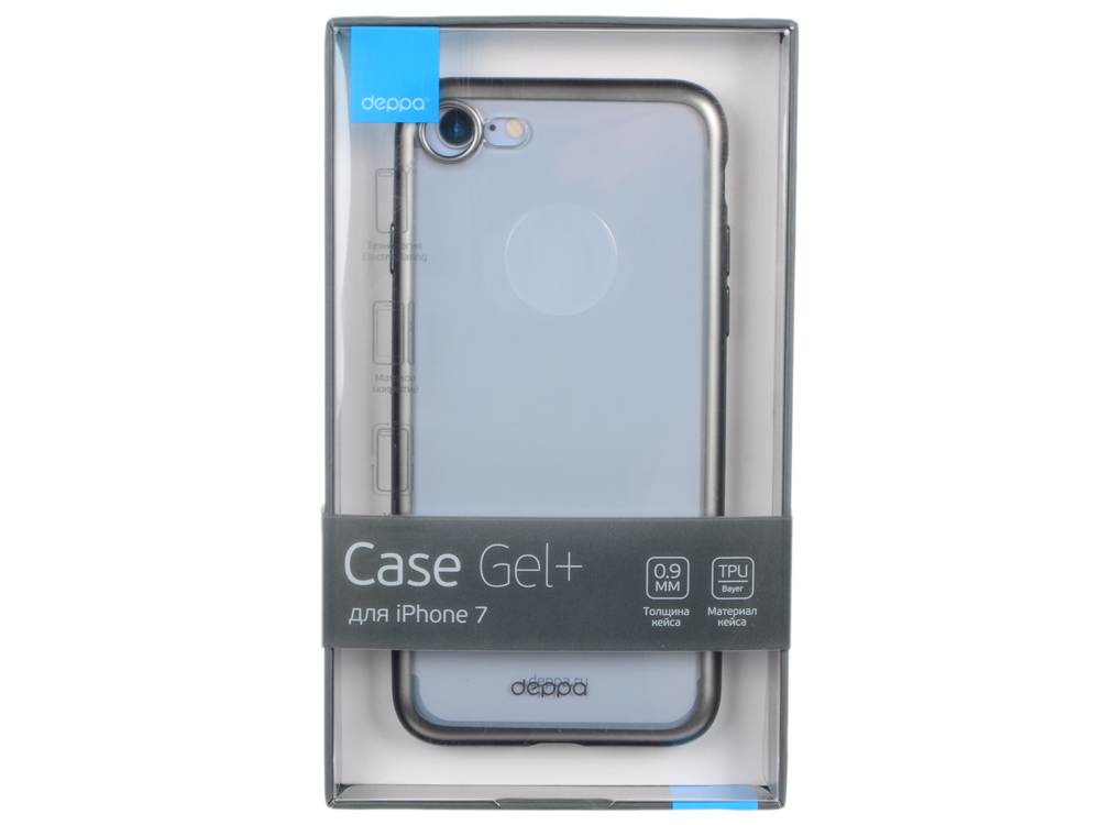 Чехол Deppa Gel Plus Case матовый для Apple iPhone 7 / iPhone 8, графит, 85283 чехол deppa gel plus case для apple iphone 7 iphone 8 золотой 85256
