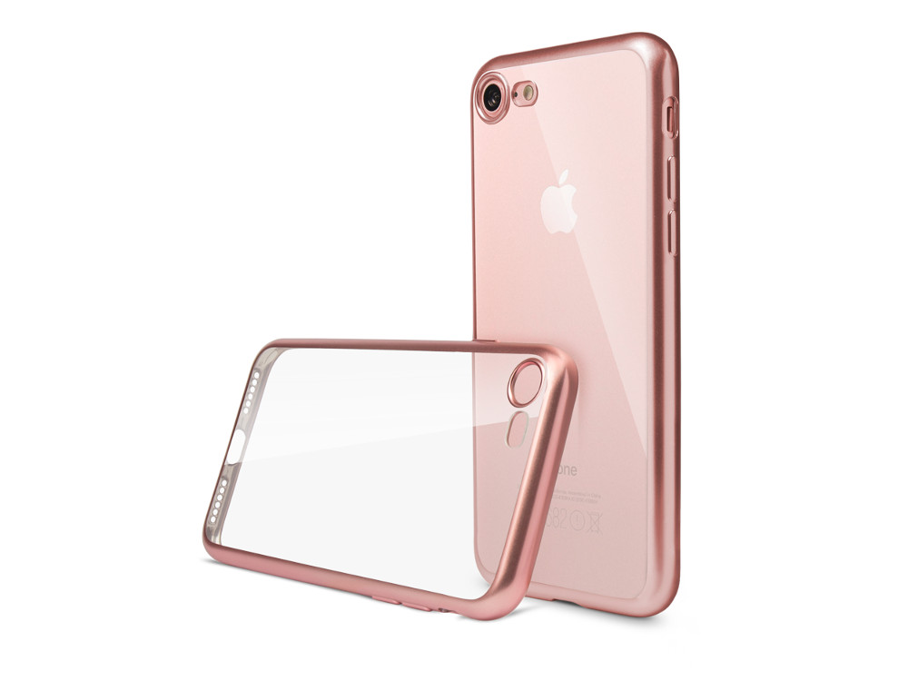 все цены на Чехол Deppa Gel Plus Case матовый для Apple iPhone 7 / iPhone 8, розовое золото, 85285 онлайн