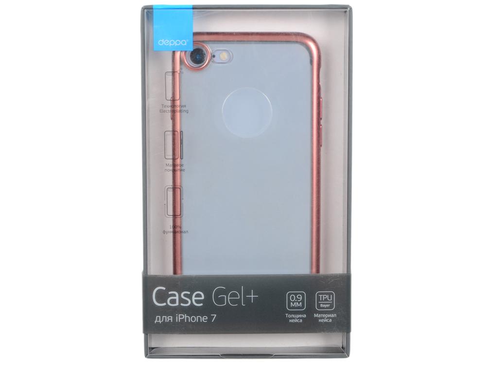 Чехол Deppa Gel Plus Case матовый для Apple iPhone 7 / iPhone 8, розовое золото, 85285