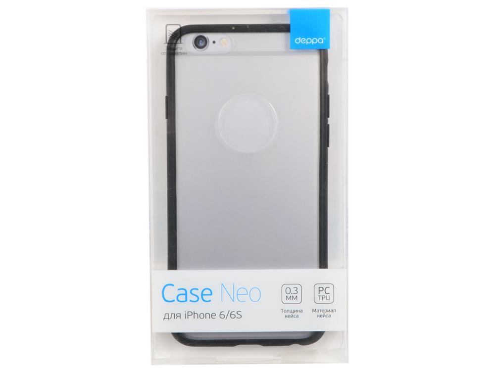 Чехол-накладка для Apple iPhone 6/6S Deppa Neo Case Black клип-кейс, полиуретан, поликарбонат