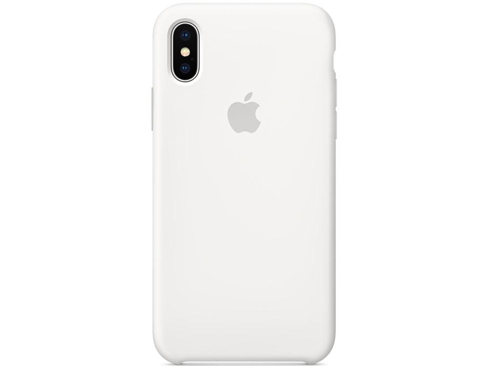 Накладка Apple Silicone Case для iPhone X белый MQT22ZM/A чехол для apple iphone 8 7 silicone case white