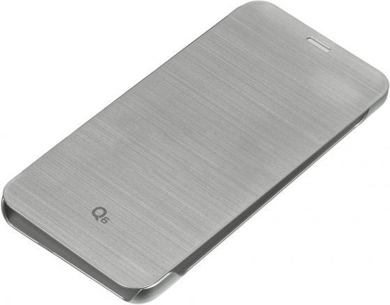 Чехол флип-кейс LG для LG Q6 M700 VOIA серебристый чехол флип кейс lg для lg v30 h930 voia черный
