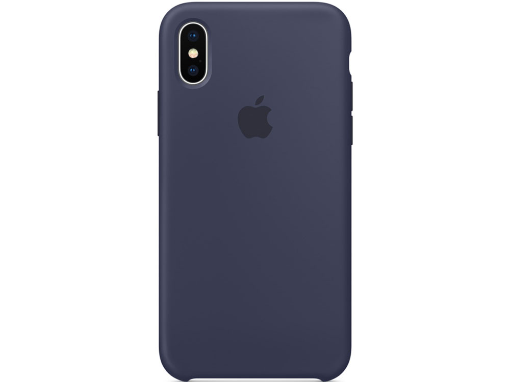 Накладка Apple Silicone Case для iPhone X темно-синий MQT32ZM/A чехол для iphone apple iphone x silicone case midnight blue mqt32zm a