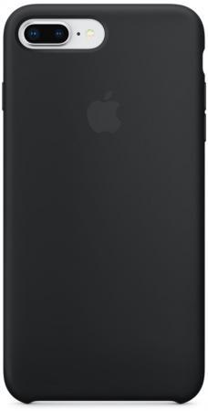 Панель силиконовая Apple для iPhone 8 Plus/7 Plus черный телефон apple iphone 7 plus 32gb a1784 черный матовый ru a