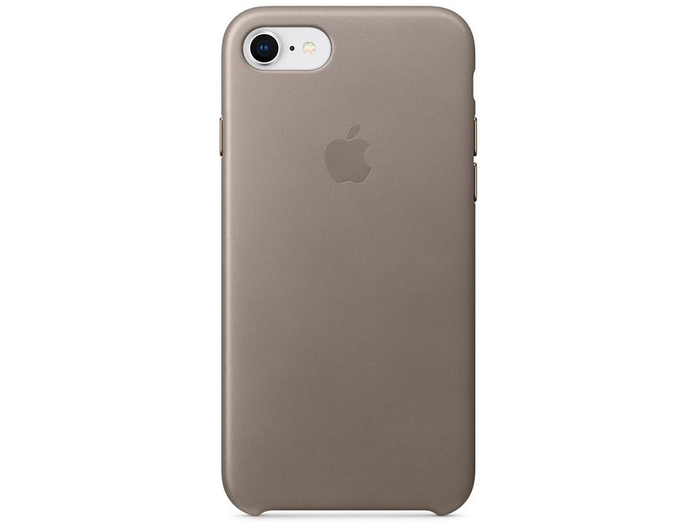 Накладка Apple Leather Case для iPhone 8 iPhone 7 платиново-серый MQH62ZM/A чехол apple leather case для iphone x платиново серый