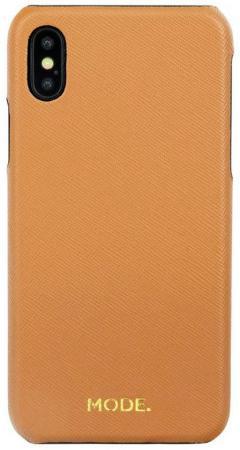 Чехол-накладка dbramante1928 London для iPhone X. Материал натуральная кожа/пластик. Цвет оранжевый. чехол накладка just mobile tenc для iphone x материал пластик цвет прозрачный