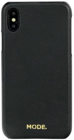 Чехол-накладка dbramante1928 London для iPhone X. Материал натуральная кожа/пластик. Цвет черный.
