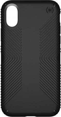 Чехол Speck Presidio Grip для iPhone X. Материал прорезиненный пластик. Цвет: черный. чехол книжка speck presidio folio для iphone x материал полиуретан цвет красный серый