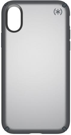 Чехол Speck Presidio Metallic для iPhone X. Материал пластик/металл. Цвет серый. Дизайн Tungsten Gre чехол книжка speck presidio folio для iphone x материал полиуретан цвет красный серый