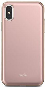 Чехол Moshi iGlaze для iPhone X. Сделан из ударопрочного пластика. Цвет: розовый. стоимость