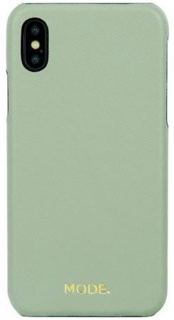 Чехол-накладка dbramante1928 London для iPhone X. Материал натуральная кожа/пластик. Цвет зеленый. чехол накладка just mobile tenc для iphone x материал пластик цвет прозрачный