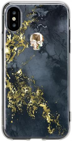 Чехол Bling My Thing для iPhone X, с кристаллами Swarovski. Коллекция Tresure Onyx. Дизайн Gold Skul women sequin backpack mochila lentejuelas teenager girl school bags bling bling lady backpacks bolsa feminina sac a main femme