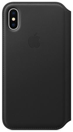 Фото - Чехол-книжка Apple Leather Folio для iPhone X чёрный MQRV2ZM/A чехол для iphone apple iphone x leather folio black mqrv2zm a